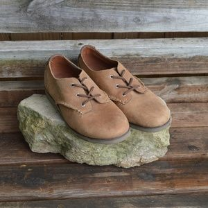 Boys Sperry Harpin Oxford Leather Brown Shoes